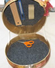 Interior of Box- with felt