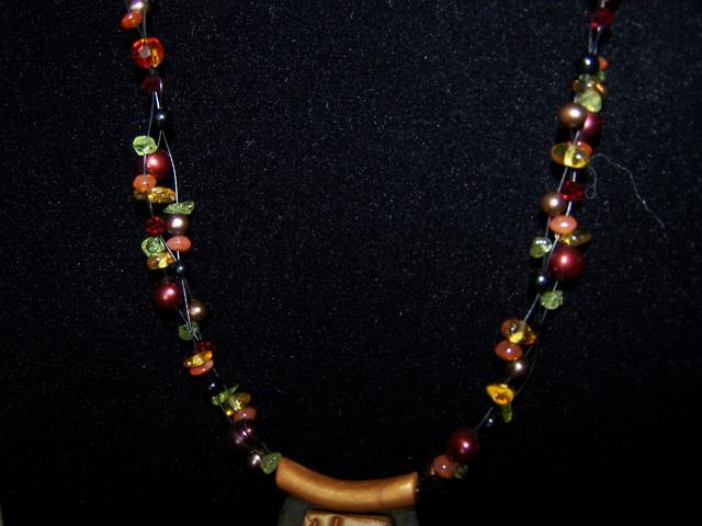 Close up of Weave- Amber, Peridot, etc...