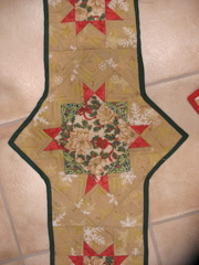 Detail of Mom's Quilted Runner